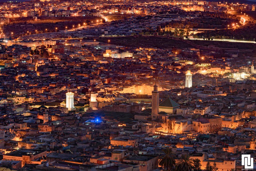 Джамията в медината от високо, Фес Мароко